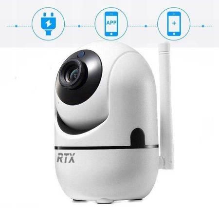 Kamera obrotowa Tuya SmartCam z funkcją śledzenia ruchu WiFi