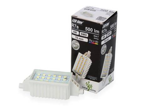 Lampa LED żarnik halogenowy 78mm 6W 230V 6500K biały zimny