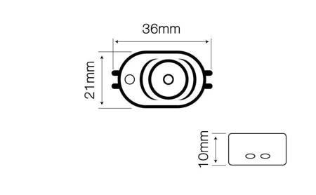 Moduł OPTO LED line® SMD2835 12V 1W 6000-6500K 170°