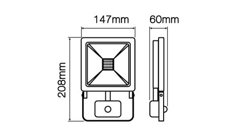 Naświetlacz LED line® PHOTON 30W 2400lm 4000K z czujnikiem ruchu PIR