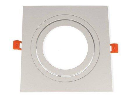 Oprawa aluminiowa AR111  kwadratowa ruchoma, biały mat
