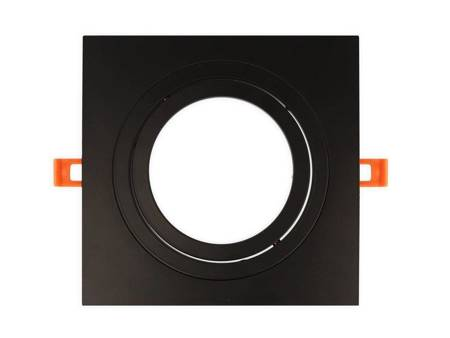 Oprawa aluminiowa AR111  kwadratowa ruchoma, czarny mat