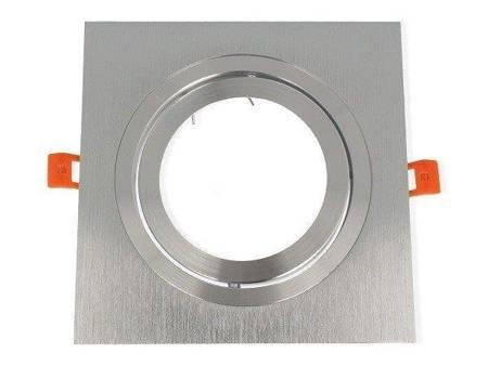 Oprawa aluminiowa AR111 kwadratowa ruchoma, srebrna