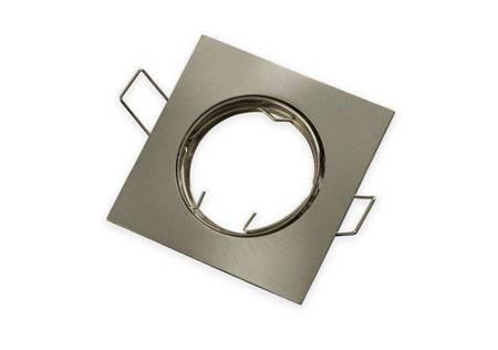 Oprawa halogenowa sufitowa kwadratowa ruchoma, odlew stopu aluminium- satyna