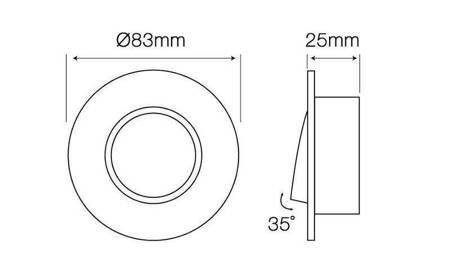 Oprawa halogenowa sufitowa okrągła ruchoma, aluminium - czarna szczotkowana
