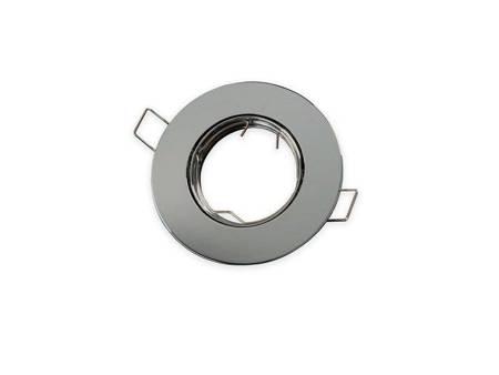 Oprawa halogenowa sufitowa okrągła ruchoma, odlew stopu aluminium - chrom