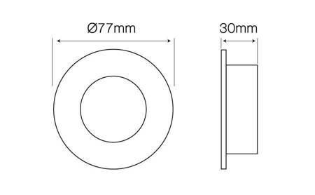 Oprawa halogenowa sufitowa okrągła stała, odlew stopu aluminium - satyna