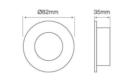 Oprawa halogenowa sufitowa okrągła stała, tłoczona - chrom