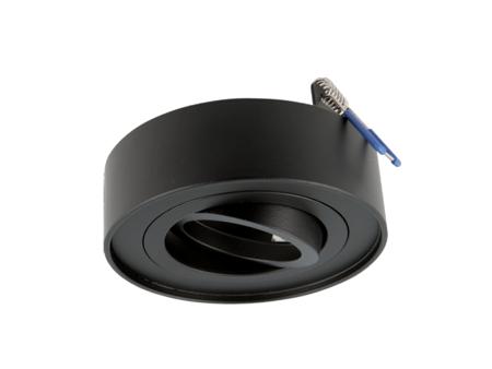 Oprawa wpuszczana okrągła ruchoma czarna matowa ROLLO MIDI