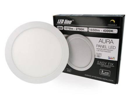 Panel LED line® Easy Fix AURA okrągły 18W 1650lm 4000K biała dzienna ściemnialny