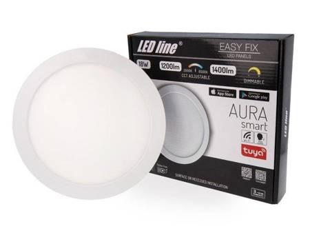 Panel LED line® Easy Fix AURA smart 18W 1200-1400lm 2800-6500K ściemnialny z możliwością regulacji temperatury barwowej