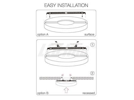 Panel LED line® EasyFix 12W 1010lm 2700K biała ciepła