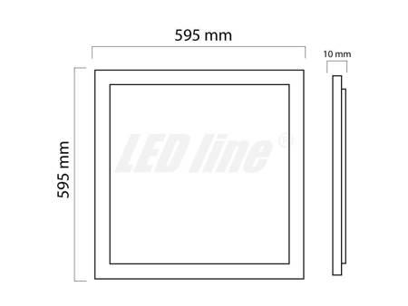 Panel LED line kwadrat 36W 2880lm 4000K biała dzienna