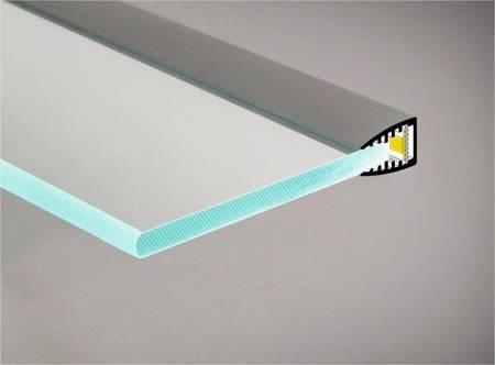 Profil krawędziowy na szybę 6mm LED Mikro10 anodowany 1 metr