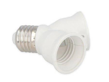 Przejściówka żarówki (adapter) E27 > 2xE27