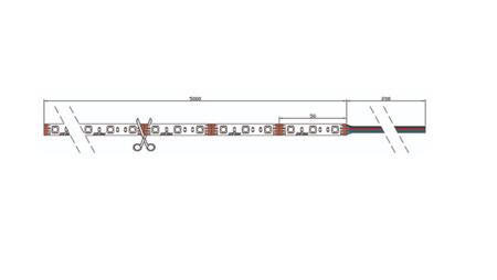 Taśma LED line 300 SMD 3528 biała zimna 10000-13000K w powłoce silikonowej IP65 5 metrów