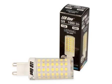 Żarówka LED G9 230V 12W 1080lm 6000K biała zimna