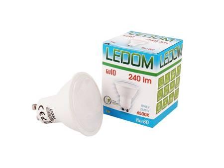 Żarówka LED LEDOM GU10 220-240V 3W 240lm 6500K biała zimna