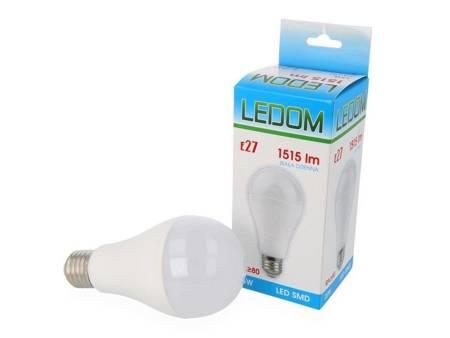 Żarówka LED SMD E27 230V 15W biała dzienna 4000K