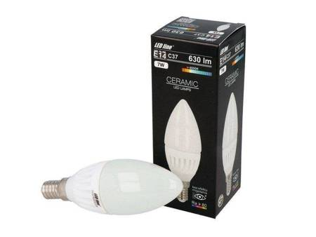 Żarówka LED line  E14 SMD 170~250V 630lm 7W biała dzienna 4000K