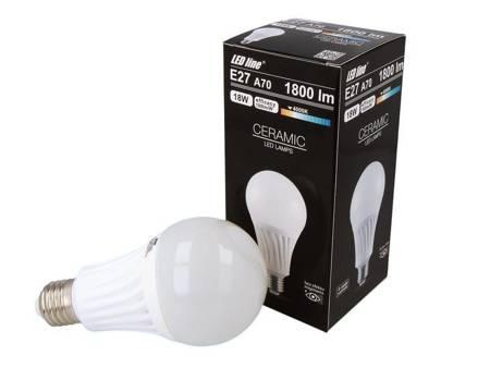 Żarówka LED line E27 170-250V 18W 1800LM biała dzienna 4000K A70