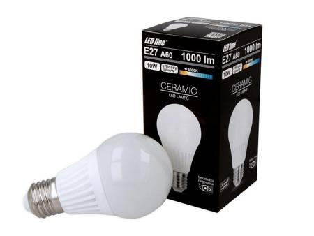 Żarówka LED line E27 230V 10W 1000lm biała dzienna 4000K A60