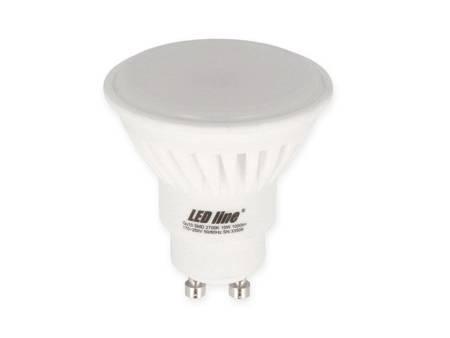 Żarówka LED line® GU10 170~250V 10W 1000lm biała ciepła 2700K