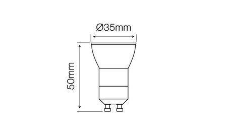 Żarówka LED line® GU11 SMD 170-250V AC 3W 255lm 38° biała zimna 6000K